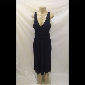 Anthropologie Maeve Size 14 Navy Blue Midi Dress